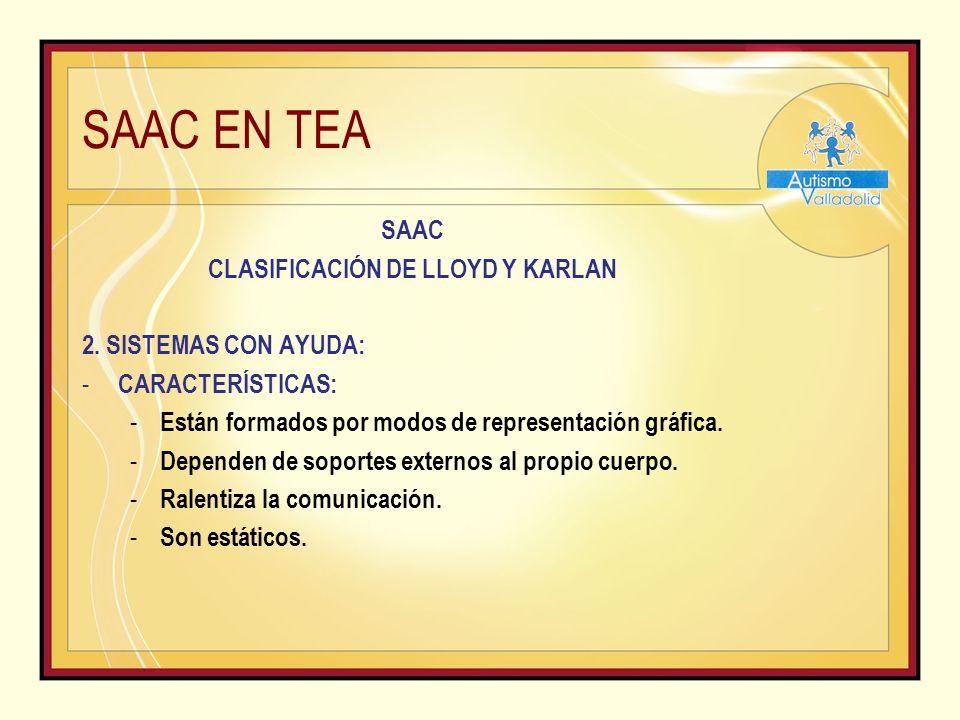SAAC EN TEA SAAC CLASIFICACIÓN DE LLOYD Y KARLAN 2.