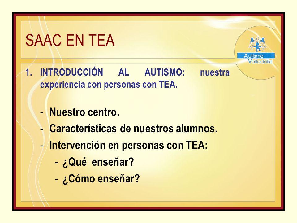 SAAC EN TEA 3.PICTURE EXCHANGE COMUNICATION SYSTEM (PECS): Sistema de Comunicación por Intercambio de Imágenes.