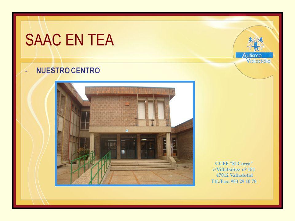 SAAC EN TEA - Páginas de interés: http://autismodiario.org/ http://www.asociacionalanda.org/web/index.php http://aspercan-asociacion-asperger- canarias.blogspot.com.es/2009/06/pictogramas-agendas-visuales- guiones-e.html http://www.proyectoazahar.org/azahar/applications.do http://www.aumentativa.net/images.php http://alfonsopinel.wordpress.com/2009/04/20/diccionario-lenguaje-de- signos-y-traductor-braille-online/ http://elsonidodelahierbaelcrecer.blogspot.com.es/2010/05/el-libro- del-juego-la-goleada-al.html
