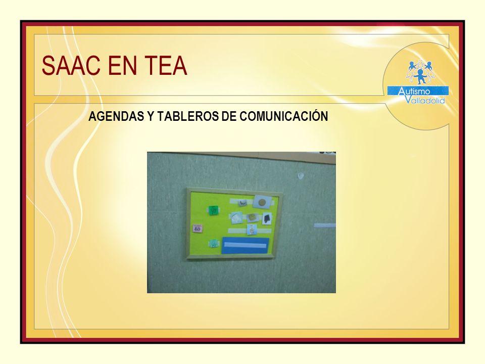 SAAC EN TEA AGENDAS Y TABLEROS DE COMUNICACIÓN