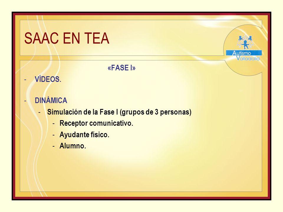 SAAC EN TEA «FASE I» - VÍDEOS.