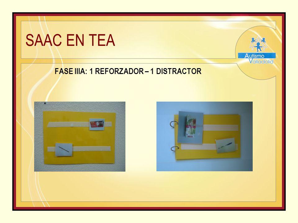 SAAC EN TEA FASE IIIA: 1 REFORZADOR – 1 DISTRACTOR