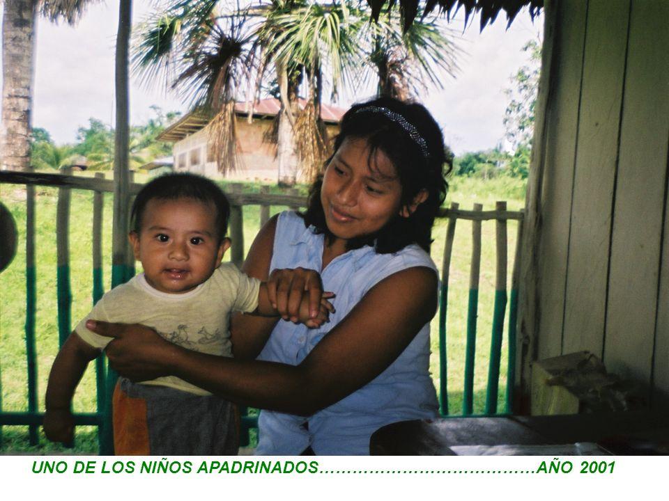 UNO DE LOS NIÑOS APADRINADOS…………………………………AÑO 2001