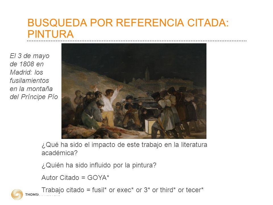 BUSQUEDA POR REFERENCIA CITADA: PINTURA ¿Qué ha sido el impacto de este trabajo en la literatura académica? ¿Quién ha sido influido por la pintura? Au