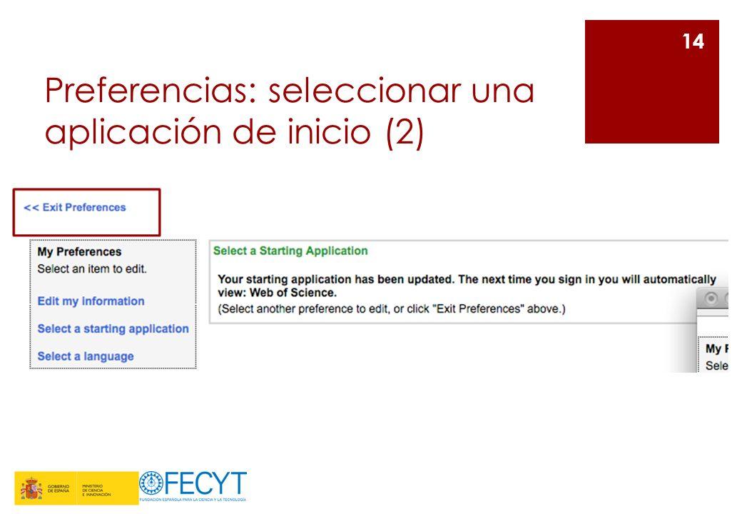Preferencias: seleccionar una aplicación de inicio (2) 14