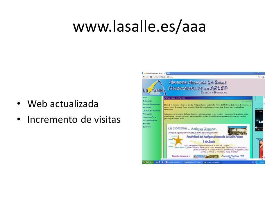 www.lasalle.es/aaa Web actualizada Incremento de visitas