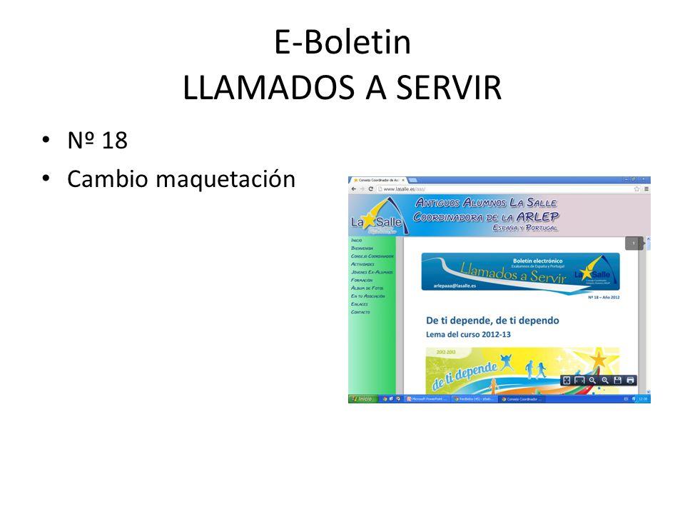 E-Boletin LLAMADOS A SERVIR Nº 18 Cambio maquetación