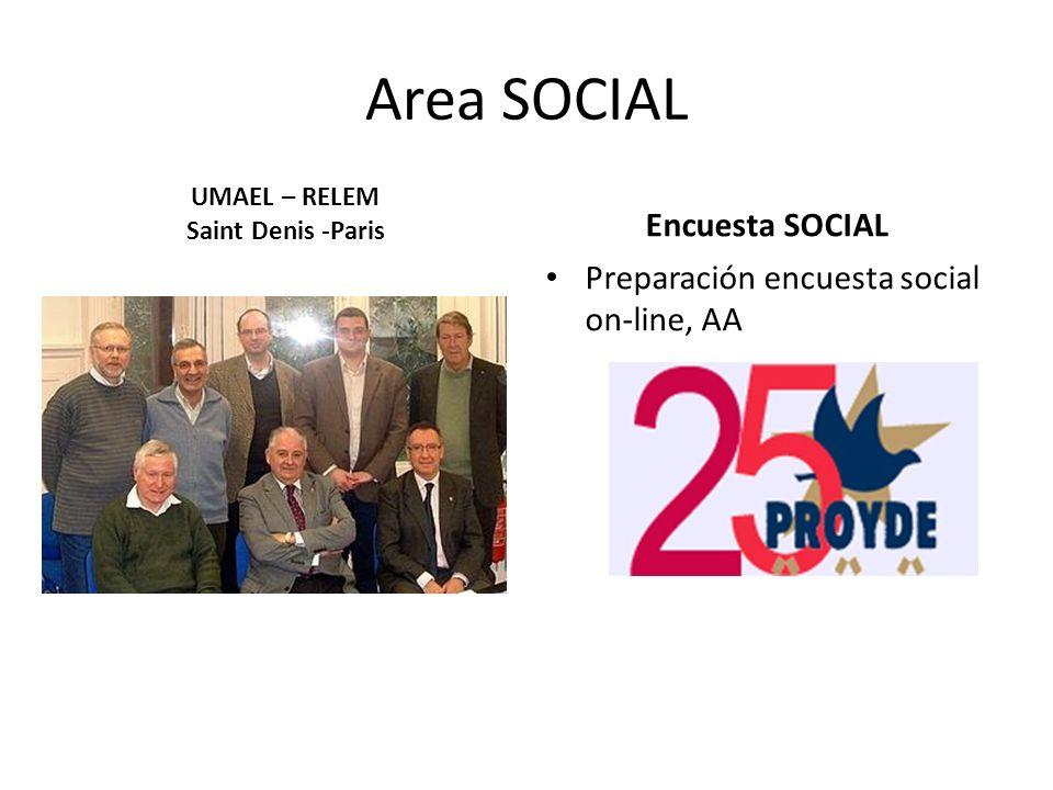 Area SOCIAL Encuesta SOCIAL Preparación encuesta social on-line, AA UMAEL – RELEM Saint Denis -Paris