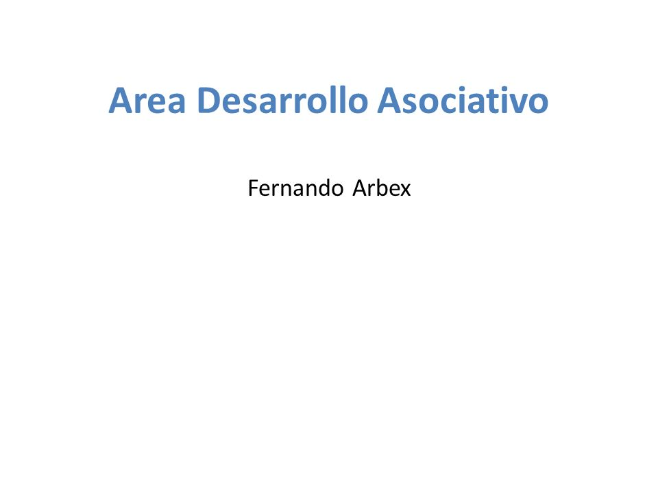 Area Desarrollo Asociativo Fernando Arbex