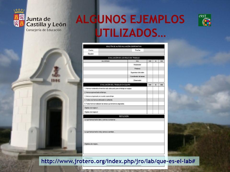 ALGUNOS EJEMPLOS UTILIZADOS… http://www.jrotero.org/index.php/jro/lab/que-es-el-lab#