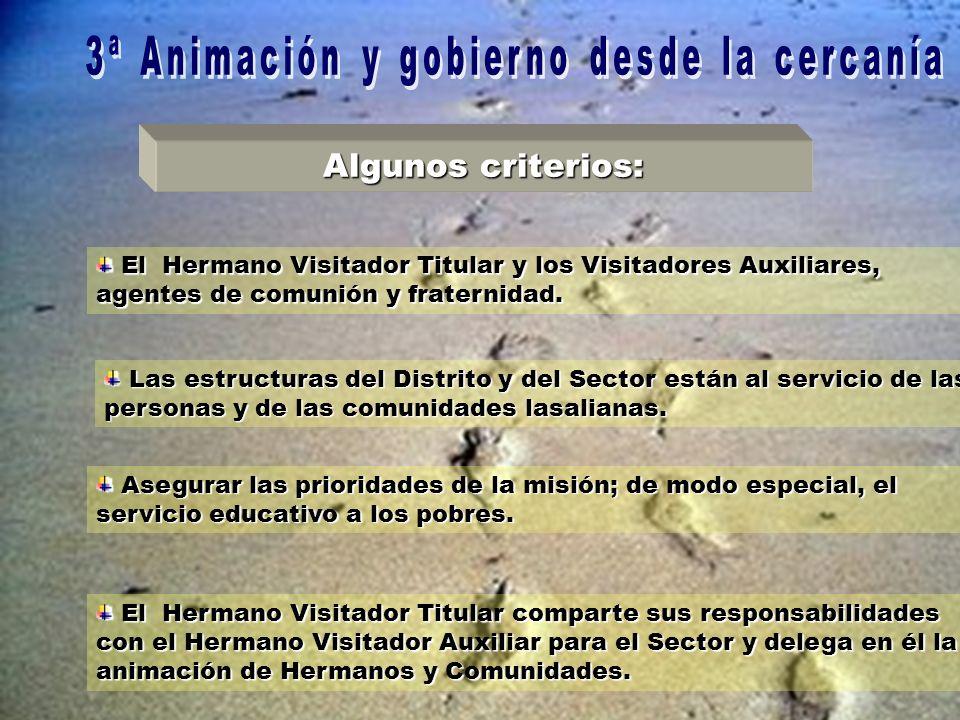 El Hermano Visitador Titular y los Visitadores Auxiliares, agentes de comunión y fraternidad.