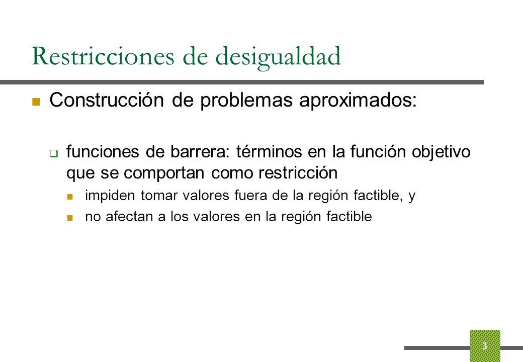 Restricciones de desigualdad Paso 1.2.