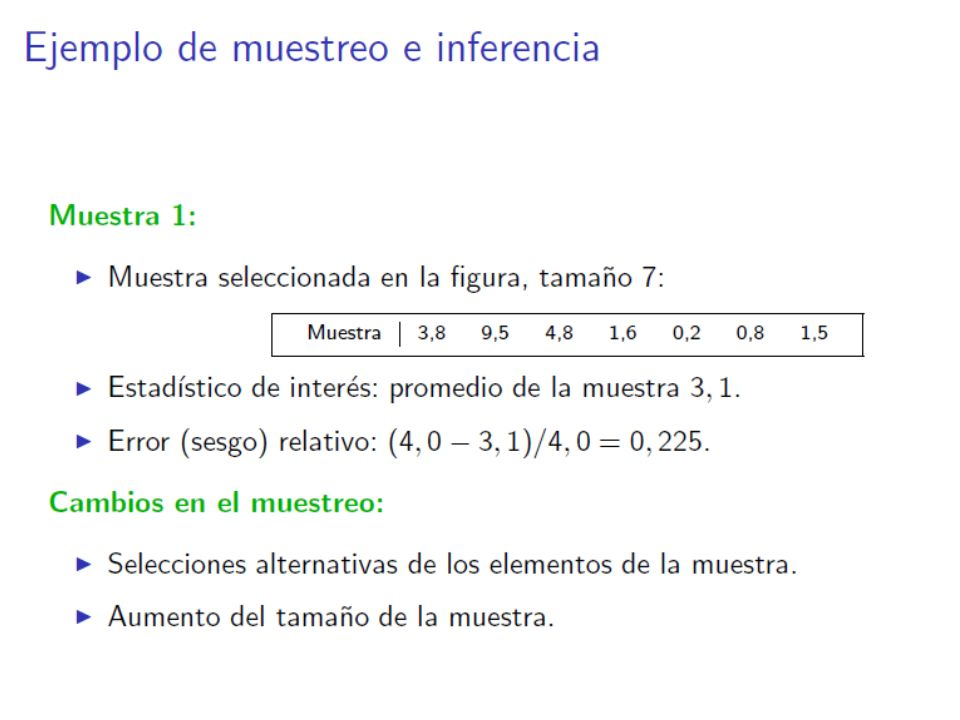 Ejemplos 1.En una muestra de 20 catalanes, su sueldo medio era de 2000 mensuales.