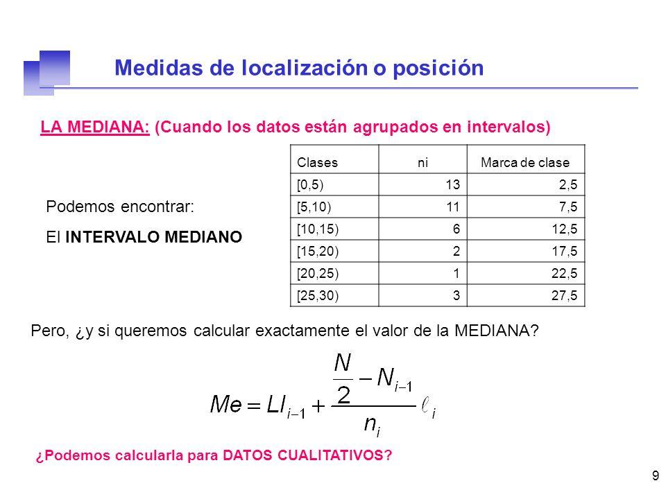 10 LA MEDIA ARITMÉTICA: Es el PROMEDIO de los valores de la muestra 777535117 1121174887 1025 ¿ Qué valor toma la media.