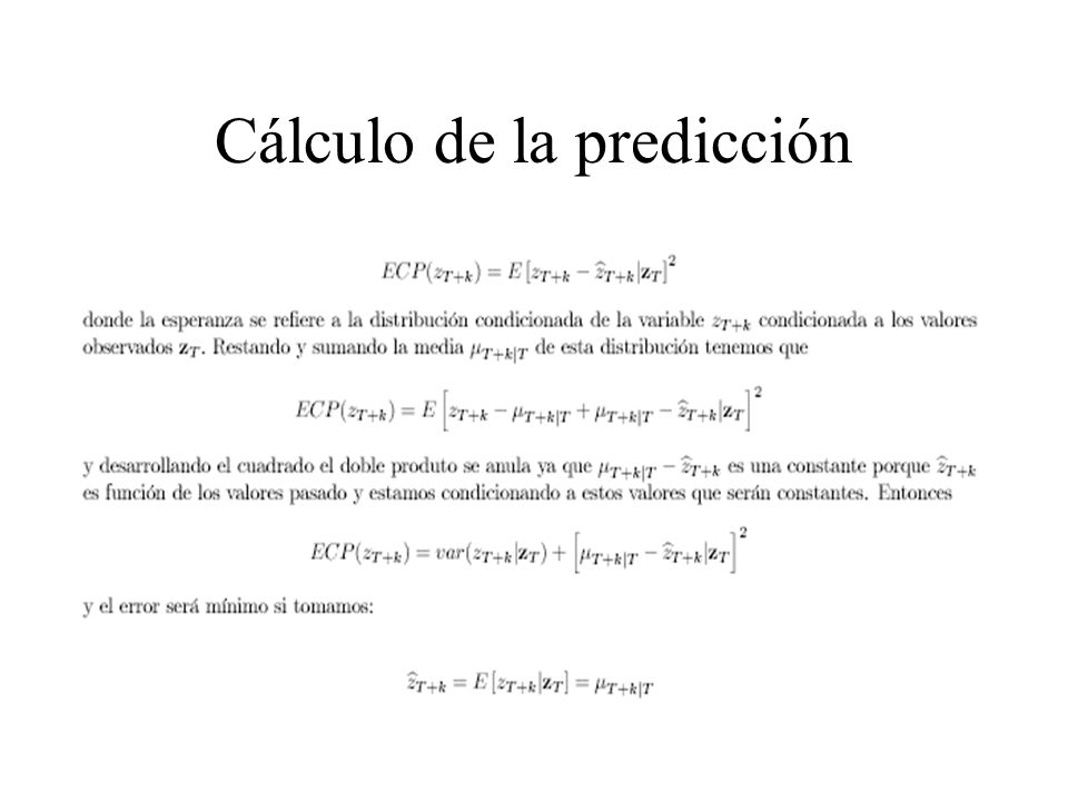 Cálculo de la predicción
