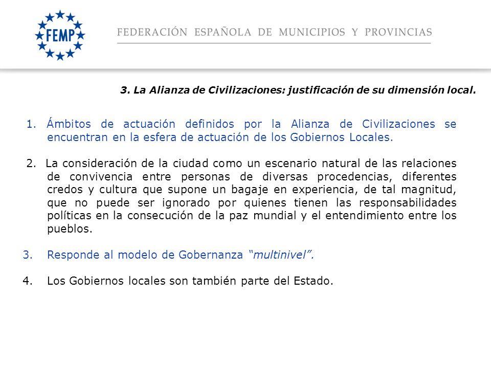 Espacio para el titular 3. La Alianza de Civilizaciones: justificación de su dimensión local.