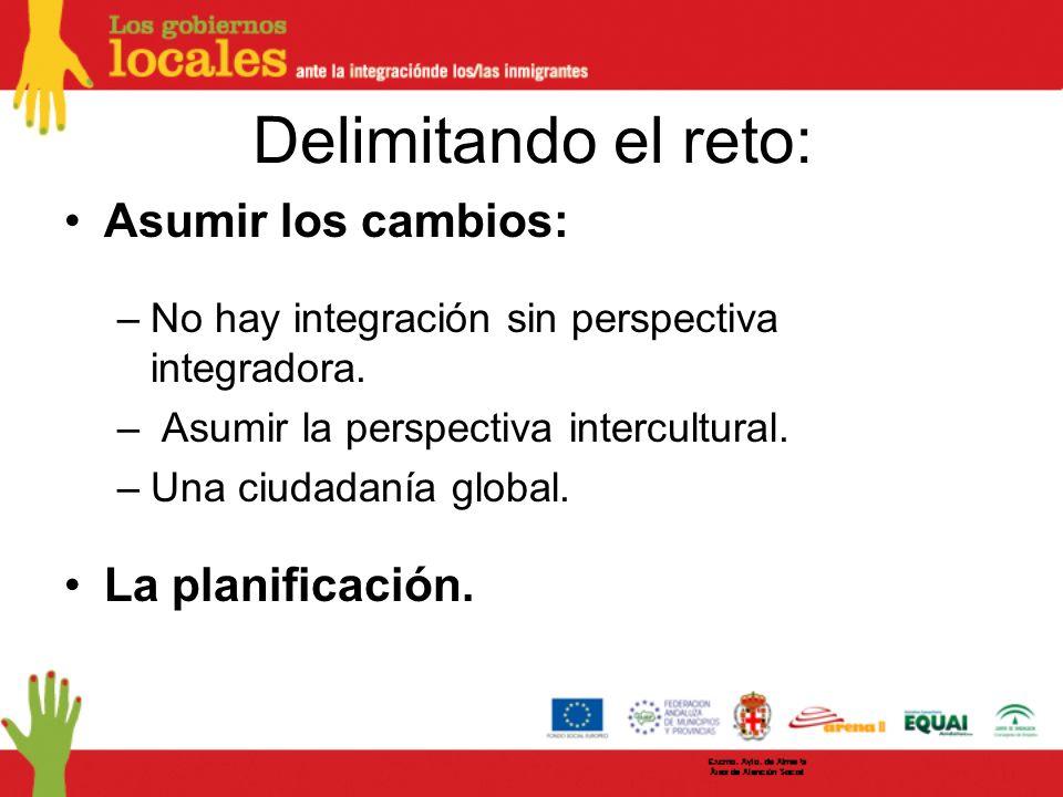 Delimitando el reto: Asumir los cambios: –No hay integración sin perspectiva integradora.