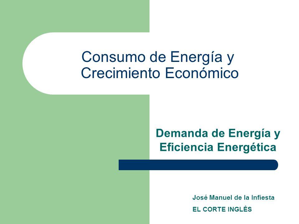 Consumo de Energía y Crecimiento Económico Demanda de Energía y Eficiencia Energética José Manuel de la Infiesta EL CORTE INGLÉS
