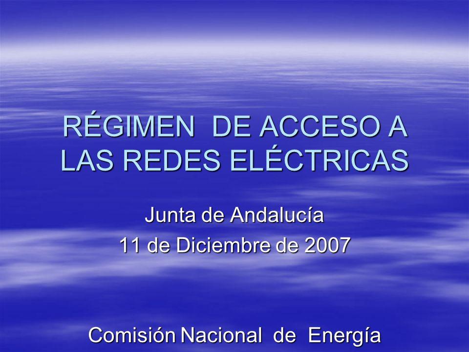 Procedimientos : 1.- Regulación sobre priorización de acceso y conexión a redes de instalaciones no gestionables.
