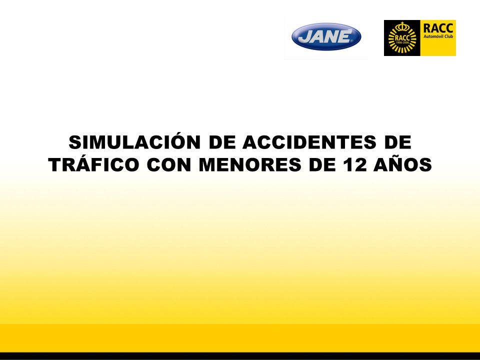 SIMULACIÓN DE ACCIDENTES DE TRÁFICO CON MENORES DE 12 AÑOS