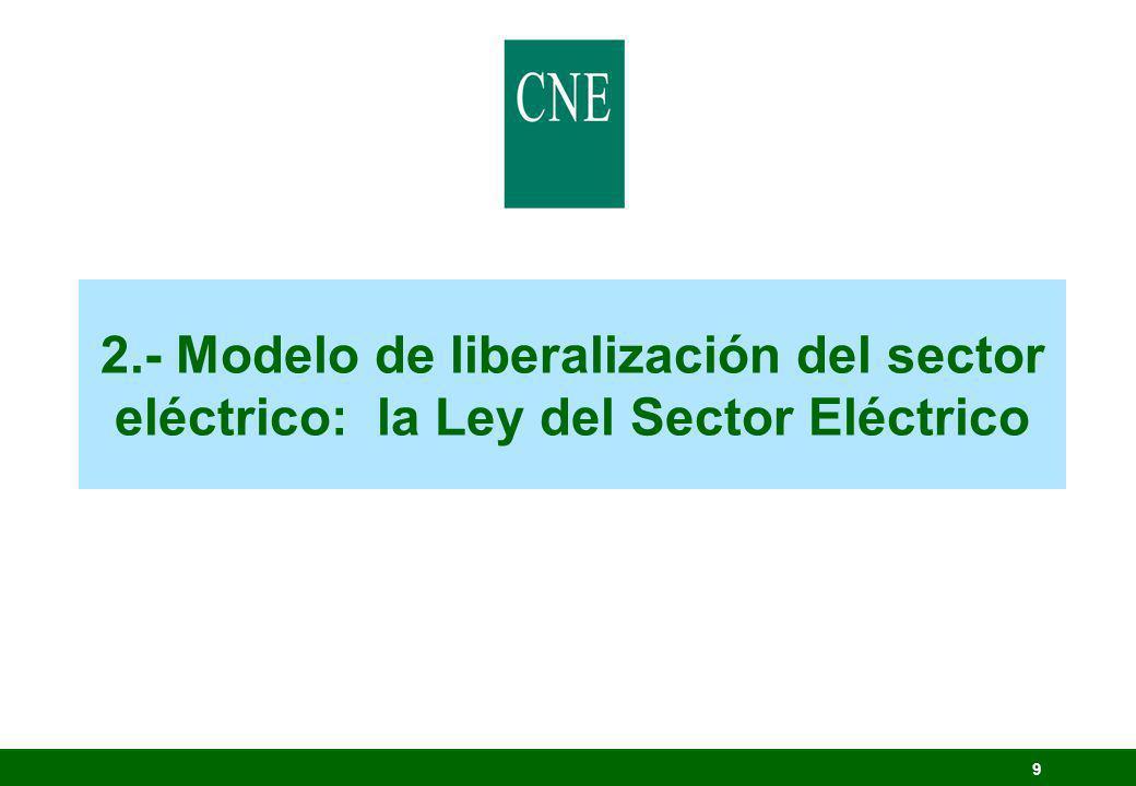 30 Establecer la regulación del sector eléctrico, con el triple y tradicional objetivo de: Todo ello sin olvidar la protección del medio ambiente.
