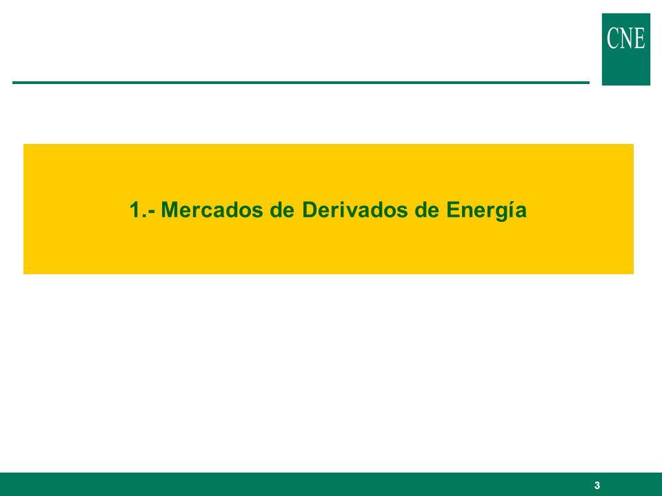 3 1.- Mercados de Derivados de Energía