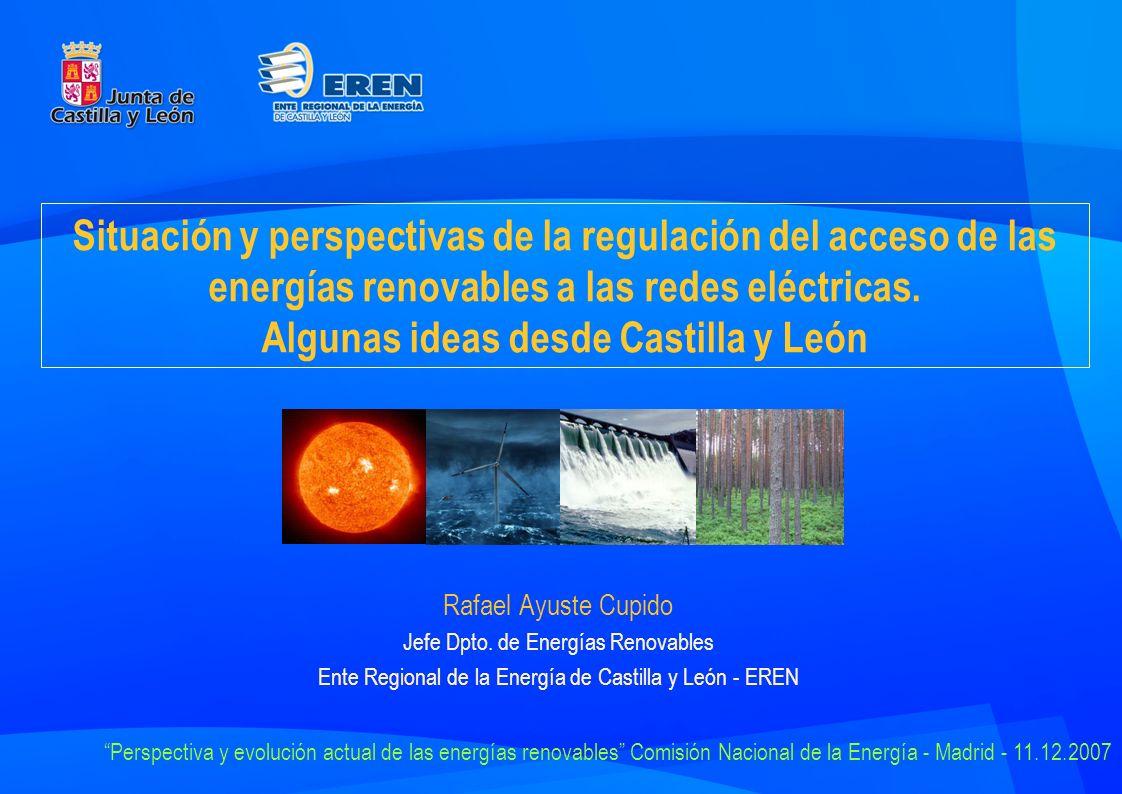 Situación y perspectivas de la regulación del acceso de las energías renovables a las redes eléctricas.