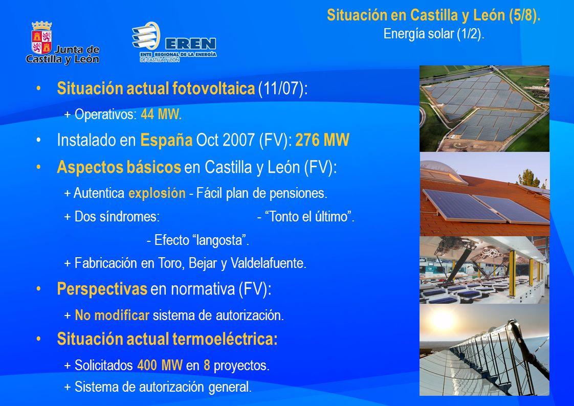 Situación en Castilla y León (5/8). Energía solar (1/2).