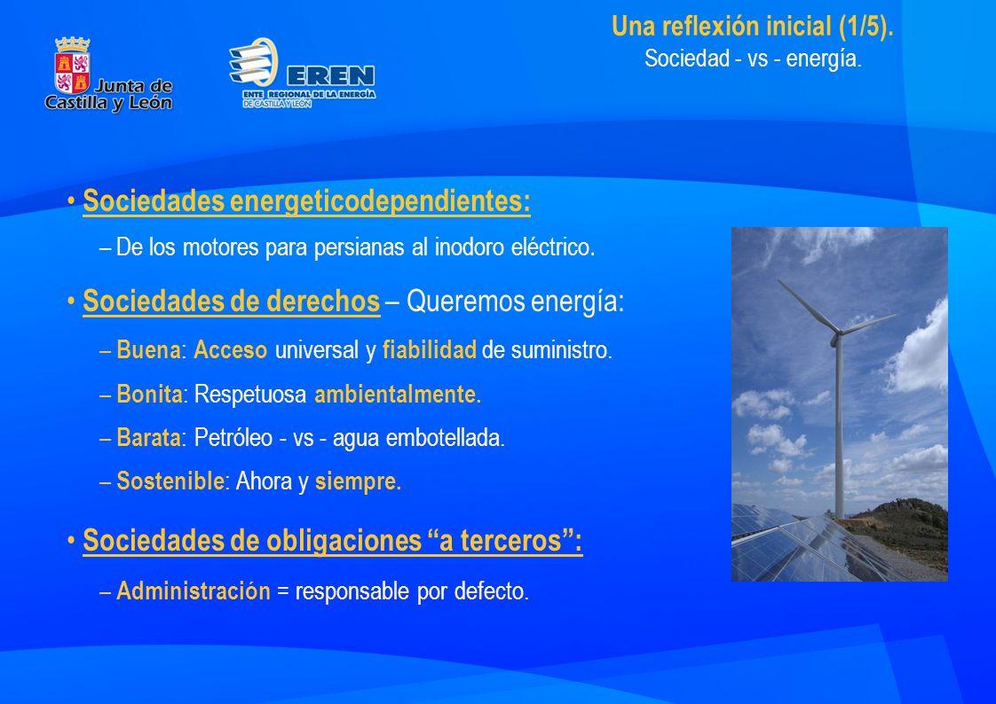 Sociedades energeticodependientes: –De los motores para persianas al inodoro eléctrico.