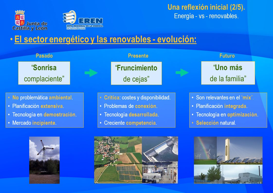 Una reflexión inicial (2/5). Energía - vs - renovables.