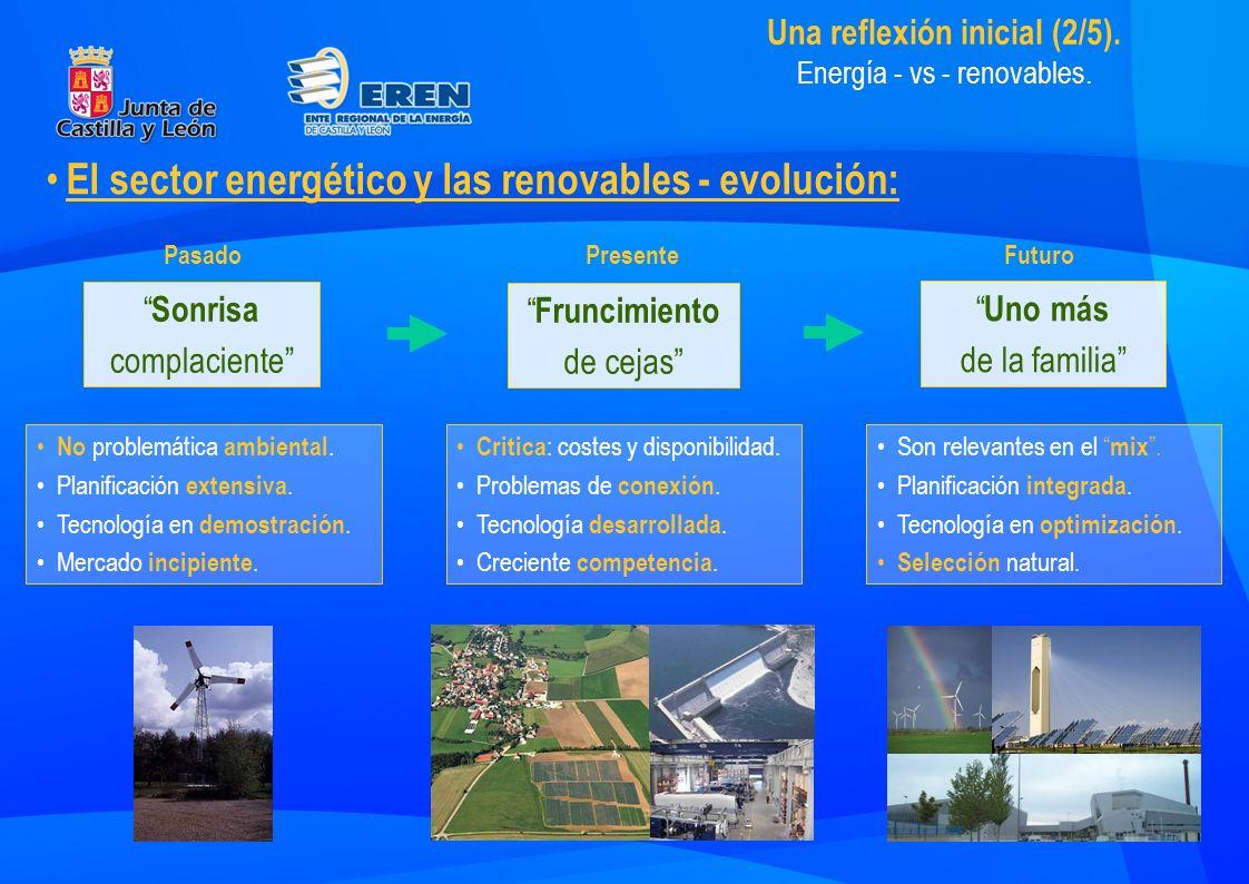 Una reflexión inicial (3/5).Renovables - vs - renovables.