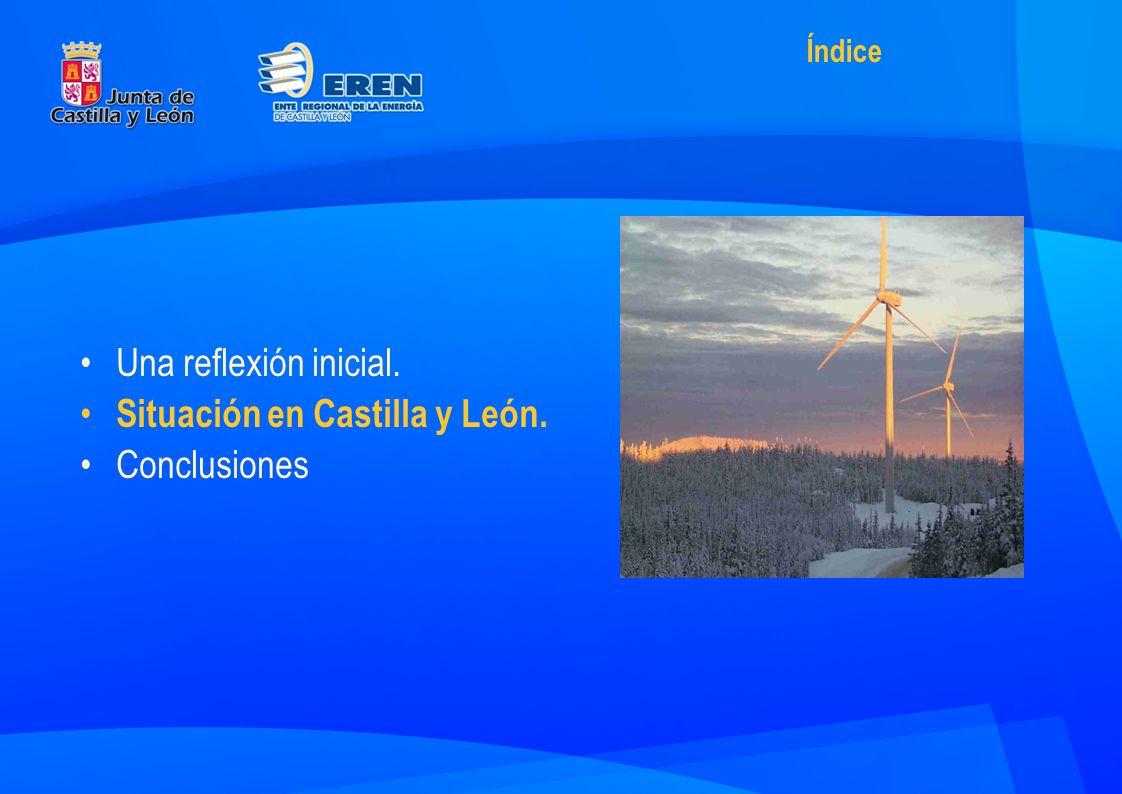 En Castilla y León, la energía: –La energía * Produce el 7.2% del Valor Añadido Bruto.