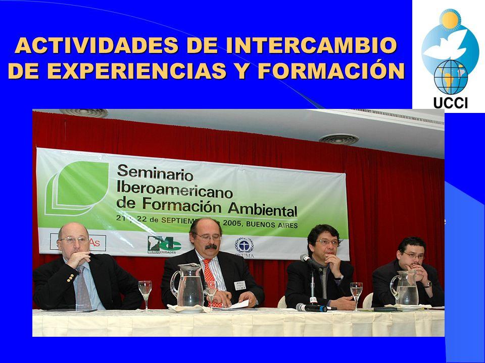 ACTIVIDADES DE INTERCAMBIO DE CONOCIMIENTOS, EXPERIENCIAS Y FORMACIÓN
