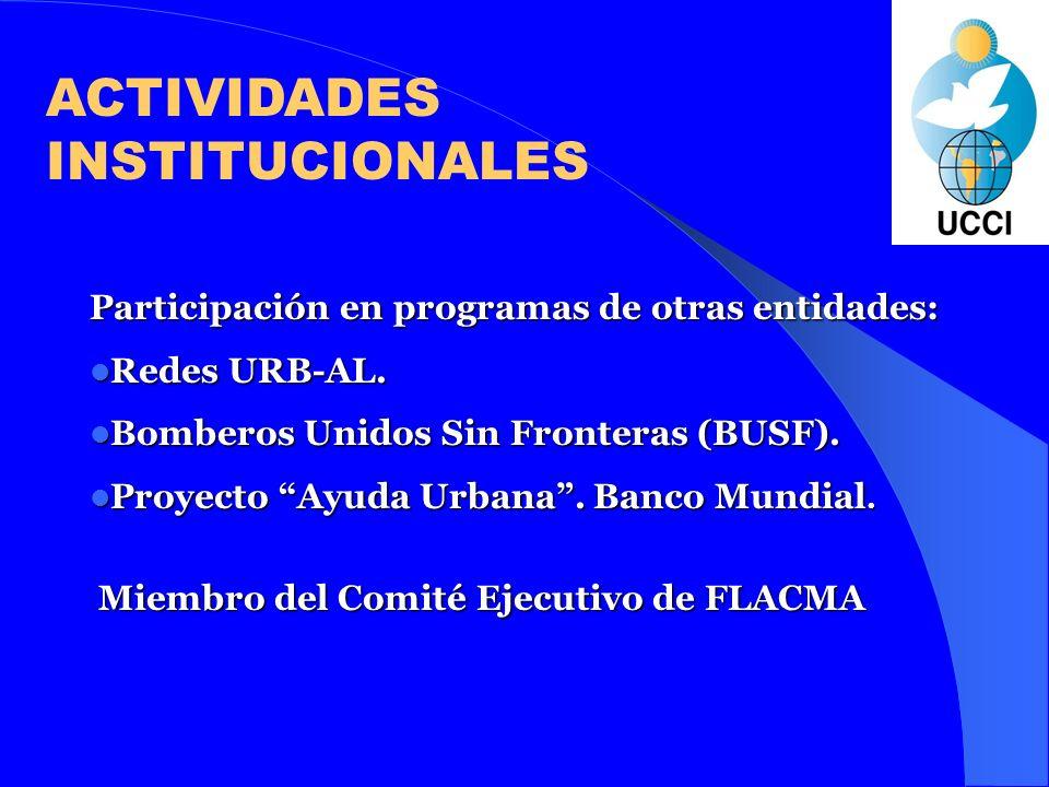ACTIVIDADES INSTITUCIONALES Miembro con estatus consultivo del ECOSOC – ONU.