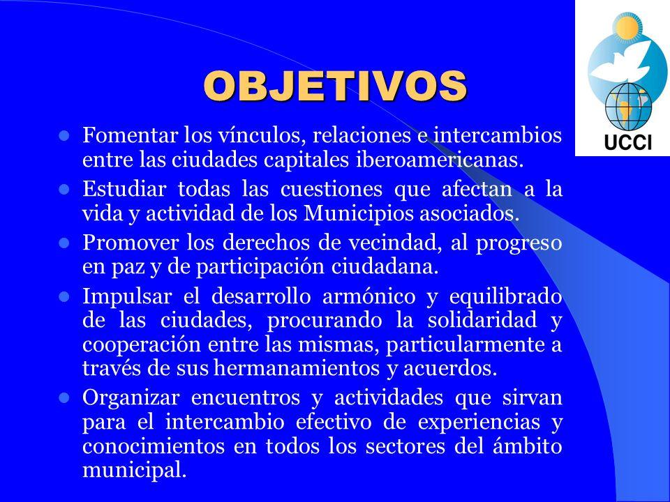MIEMBROS La UCCI agrupa a todas las ciudades capitales de Iberoamérica y algunas otras grandes ciudades, hasta un total de veintiséis.