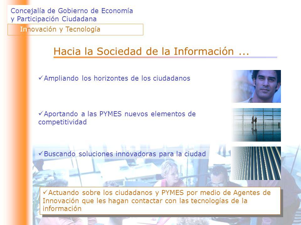 Concejalía de Gobierno de Economía y Participación Ciudadana Innovación y Tecnología Hacia la Sociedad de la Información...