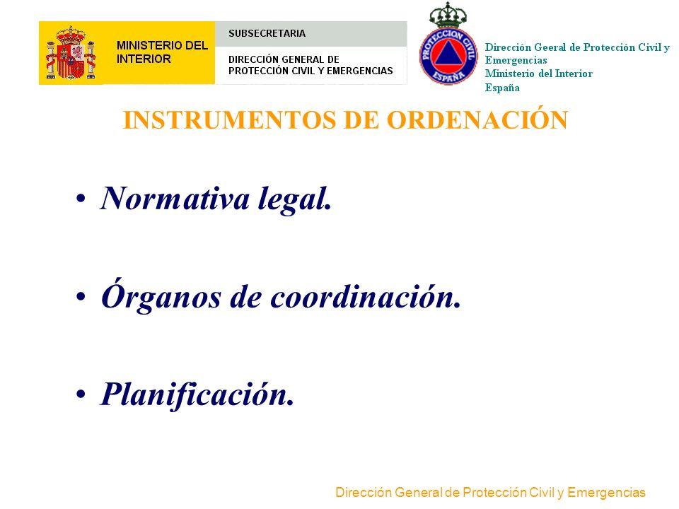 Dirección General de Protección Civil y Emergencias PRINCIPIOS ORDENADORES DELSISTEMA Concurrencia competencial Coordinación Complementariedad Subsidi