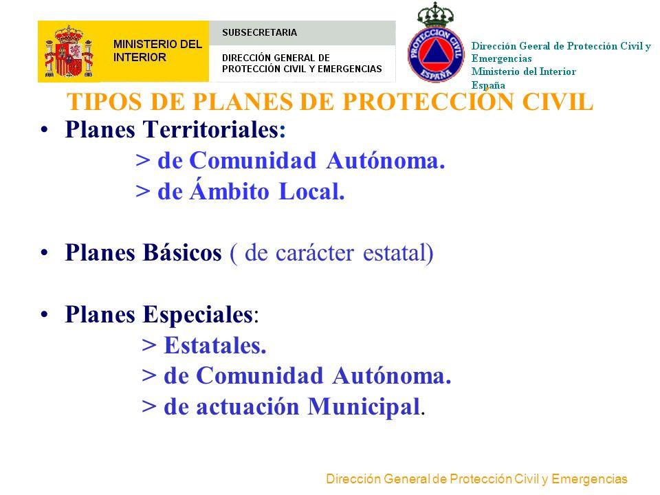 Dirección General de Protección Civil y Emergencias PLAN DE PROTECCIÓN CIVIL Plan de protección civil es la previsión del marco orgánico-funcional y d