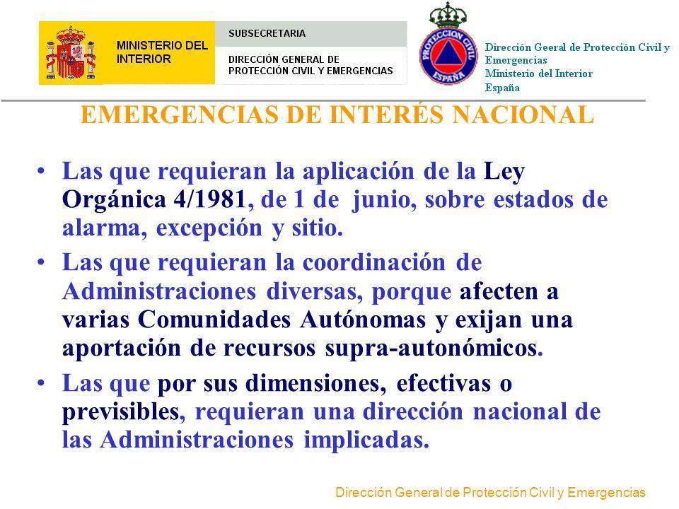 Dirección General de Protección Civil y Emergencias PRINCIPIOS DE DIRECCIÓN DE EMERGENCIAS >La dirección de cada emergencia ha de ser única. >La direc