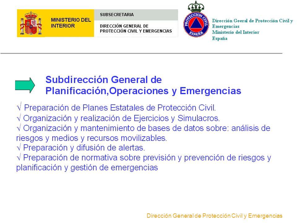 Dirección General de Protección Civil y Emergencias ORGANIGRAMA DE LA DIRECCIÓN GENERAL DE PROTECCIÓN CIVILY EMERGENCIAS Consejero Técnico Estudios Do