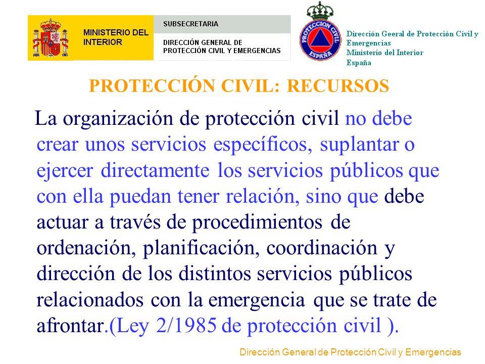 Dirección General de Protección Civil y Emergencias PROTECCION CIVIL. FUNCIONES Análisis de riesgos Análisis de riesgos Prevención Planificación de Em