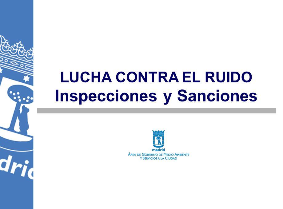 LUCHA CONTRA EL RUIDO Inspecciones y Sanciones