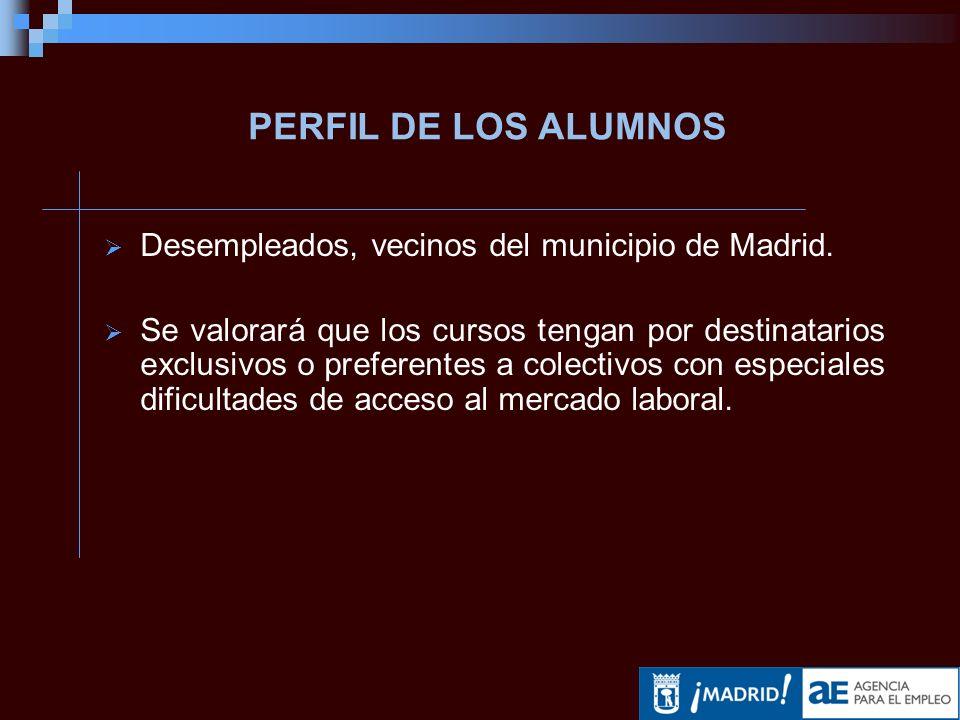 Desempleados, vecinos del municipio de Madrid.