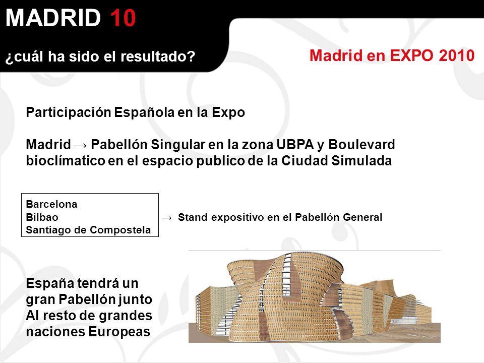 MADRID Madrid en EXPO 2010 ¿cuál ha sido el resultado.