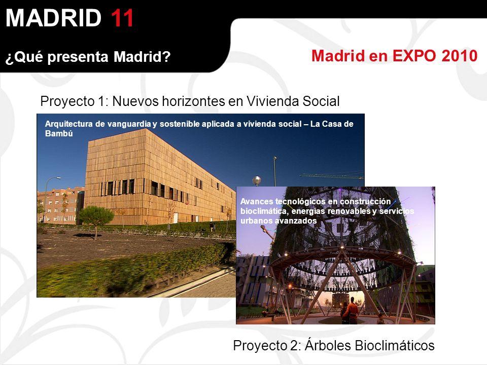 MADRID Madrid en EXPO 2010 ¿Qué presenta Madrid.
