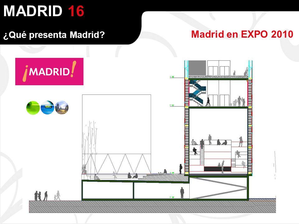 MADRID Madrid en EXPO 2010 ¿Qué presenta Madrid 16