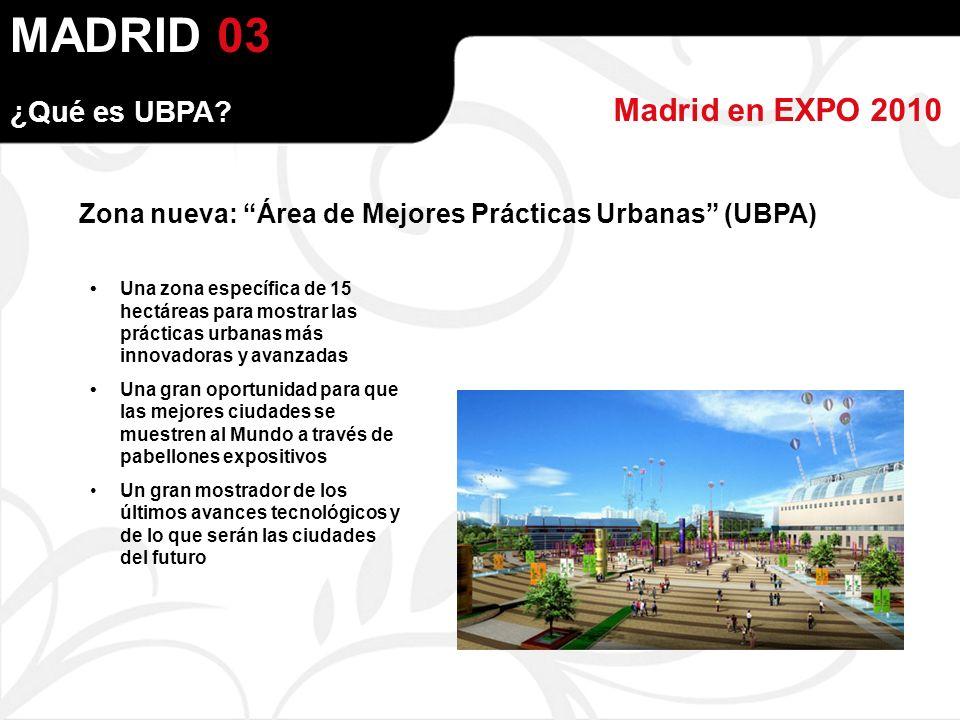 MADRID Madrid en EXPO 2010 ¿Qué es UBPA.