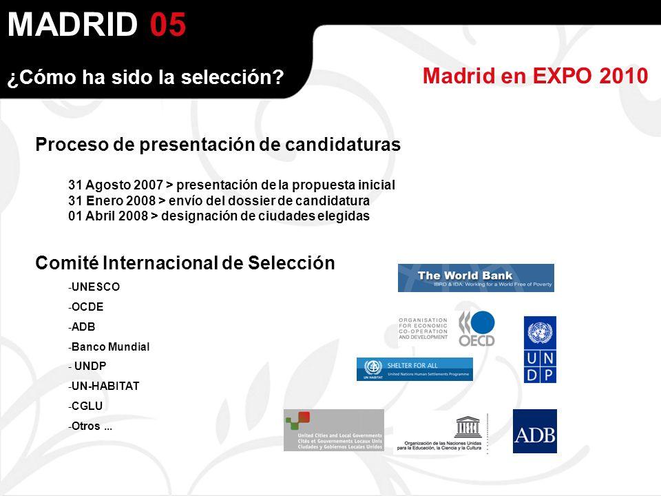 MADRID Madrid en EXPO 2010 ¿Cómo ha sido la selección.