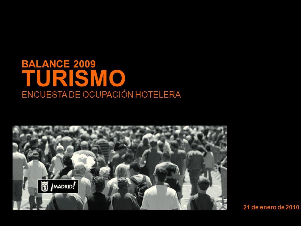 BALANCE 2009 TURISMO ENCUESTA DE OCUPACIÓN HOTELERA 21 de enero de 2010