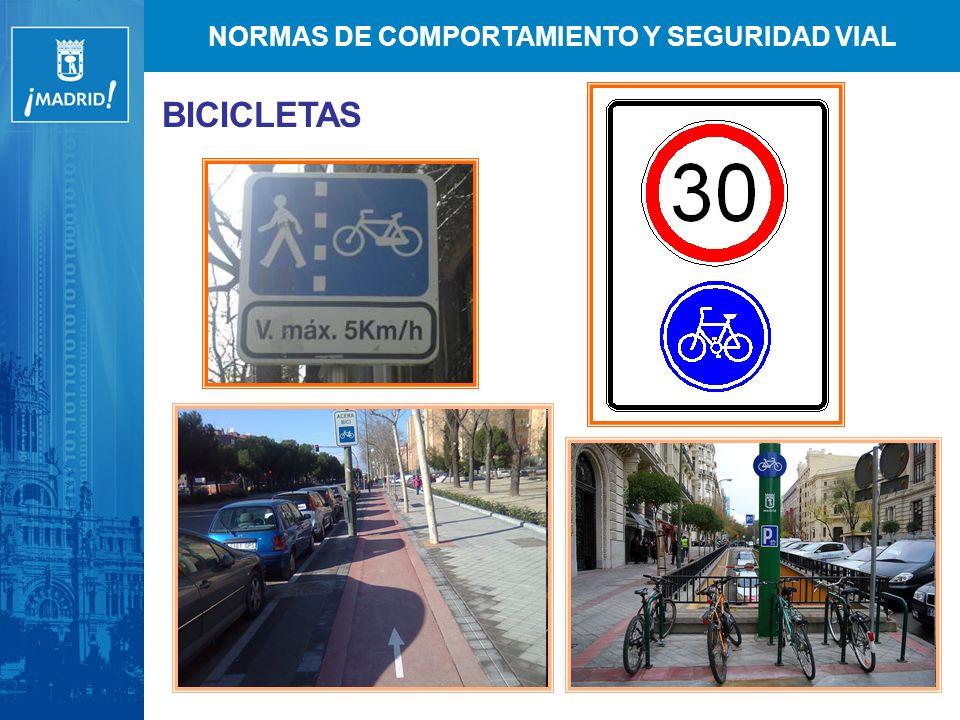 NORMAS DE COMPORTAMIENTO Y SEGURIDAD VIAL BICICLETAS